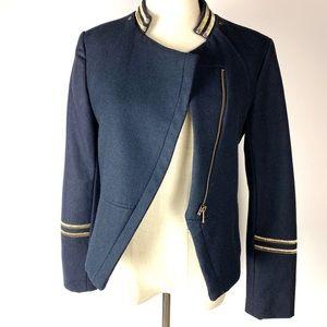H&M Wool Naval Cropped Blazer Size 8